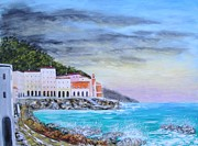 Portofino Italy Paintings - Riviera Ligure by Larry Cirigliano