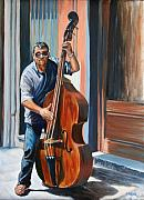 Bass Musician Framed Prints - Riviera Rhythms Framed Print by Jennifer Lycke