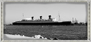 Rms Queen Mary Framed Prints - RMS Queen Mary Framed Print by RJ Aguilar