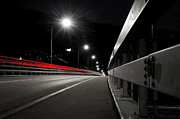 Long Street Prints - Road at night Print by Mats Silvan