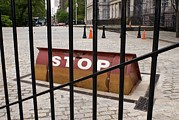 Stop Sign Framed Prints - Road Blocker At New York City Hall. Framed Print by Mark Williamson