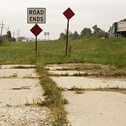 Road Ends Sign Print by Will & Deni McIntyre
