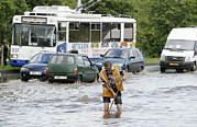 Motor Art - Road Flooded By Heavy Rains by Ria Novosti
