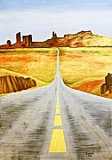 Blacktop Prints - Road Home Print by Emilio Lovisa