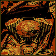 Graphic Framed Prints - Road King Framed Print by Gary Grayson