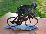 Bicycle Sculpture Posters - Road race Poster by Steve Mudge