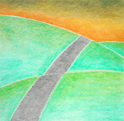 Collagraph Pastels - Road by Soft Pastel Paintings
