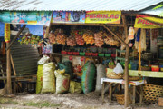 Cebucity Prints - Road Side Store Philippines Print by James Bo Insogna
