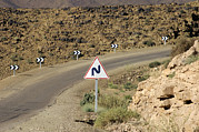 Moroccan Photos - Road Sign by Johnny Greig