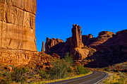 Arches National Park Framed Prints - Road through Arches National Park Utah Framed Print by Scott McGuire