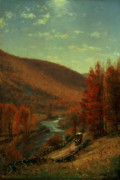 Colors Of Autumn Painting Prints - Road Through Belvedere Print by Thomas Worthington