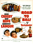 1952 Movies Framed Prints - Road To Bali, Bob Hope, Dorothy Lamour Framed Print by Everett