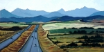 Alberta Foothills Landscape Prints - Road to Banff Print by Diane Ellingham
