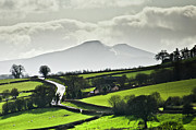 Urban Scene Posters - Road To Brecon Beacons Poster by Ginny Battson