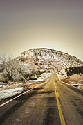 Winter Photos Posters - Road to Jemez Poster by Andrea Hazel Ihlefeld