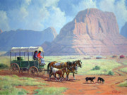 Navajo Painting Acrylic Prints - Road To Kayenta Acrylic Print by Randy Follis