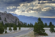 Pretty Clouds Prints - Road to Mono Lake - California Print by Brendan Reals