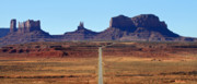Sun Hat Framed Prints - Road to Monument Valley Framed Print by Pierre Leclerc
