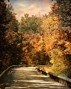 Autumn Landscape Art - Road to Paradise by Jai Johnson