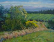 Winery Paintings - Road to Pinot by Sylvia Carlton