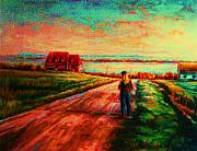 Summerscene Prints - Road To Red Gables Print by Carole Spandau