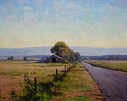 Shed Painting Prints - Road To Richmond Print by Graham Gercken