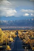 Rio Grande Framed Prints - Road to Sandia Mountains Framed Print by Ray Laskowitz - Printscapes