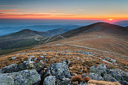 Balkan Mountains Framed Prints - Road to Sunrise Framed Print by Evgeni Dinev
