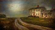Farm House Mixed Media Posters - Road To Sunset Poster by Michael Petrizzo