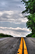 Country Scene Photos - Road To The Clouds by Emily Stauring