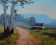 Signed . Nature Paintings - Road to the Farm by Graham Gercken