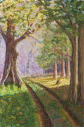 Shadows Pastels Posters - Road to the River Poster by James Geddes