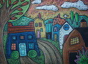 Folk  Pastels - Road To Town by Karla Gerard