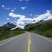 Roadway Framed Prints - Road to Worthington Glacier Framed Print by Bill Bachmann - Printscapes