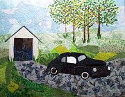 Car Tapestries - Textiles Posters - Road trip Poster by Charlene White