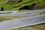 Mountain Road Photo Prints - Road with curves Print by Mats Silvan