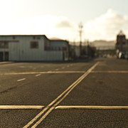 Asphalt Photos - Road With Double Yellow Lines and Speed Bumps by Eddy Joaquim