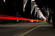 Long Street Prints - Road with lights Print by Mats Silvan