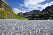 Long Street Prints - Road with mountain Print by Mats Silvan