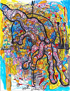 Thought Drawings - Roadmap  by Jon Baldwin  Art