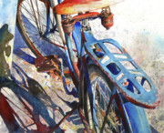 Wheels Painting Prints - Roadmaster Print by Andrew King