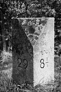 Mile Marker Prints - roadside milestone for kinloch and tyndrum in Scotland uk Print by Joe Fox