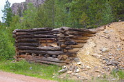 Log Cabins Photo Originals - Roadside Mine by Cynthia Cox Cottam