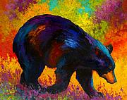 Wild Animals Paintings - Roaming - Black Bear by Marion Rose