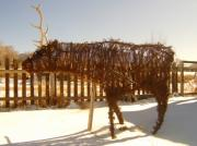 Recycle Art Sculptures - Roaming Elk by Floyd Archuleta