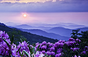 Mountain Photographs Posters - Roan Mountain Sunset Poster by Rob Travis