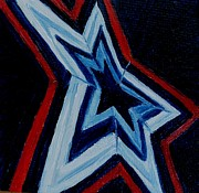 Patriotism Paintings - Roanoke VA Star City of the South by Julie Brugh Riffey
