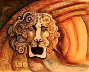Surrealism Pastels - Roaring Lion  by Dan Earle