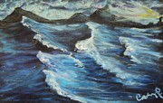 Psalms Pastels - Roaring Sea by Casey Park