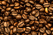 Coffee Beans Posters - Roasted coffee beans Poster by Fabrizio Troiani
